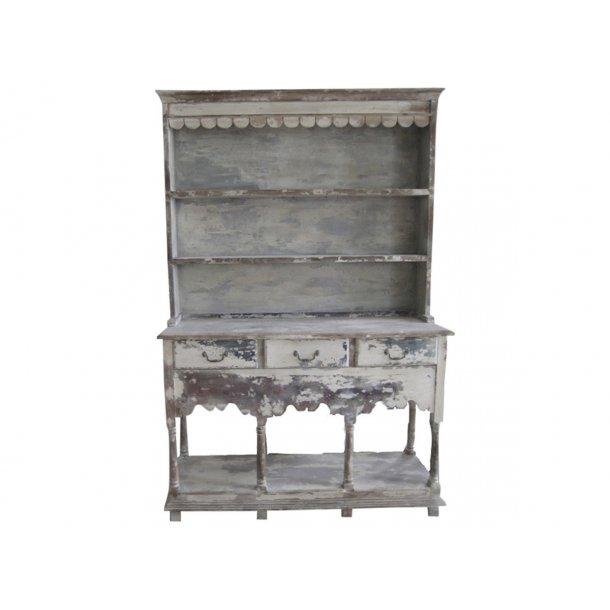 Chic Antique købmandsdisk i antique hvid