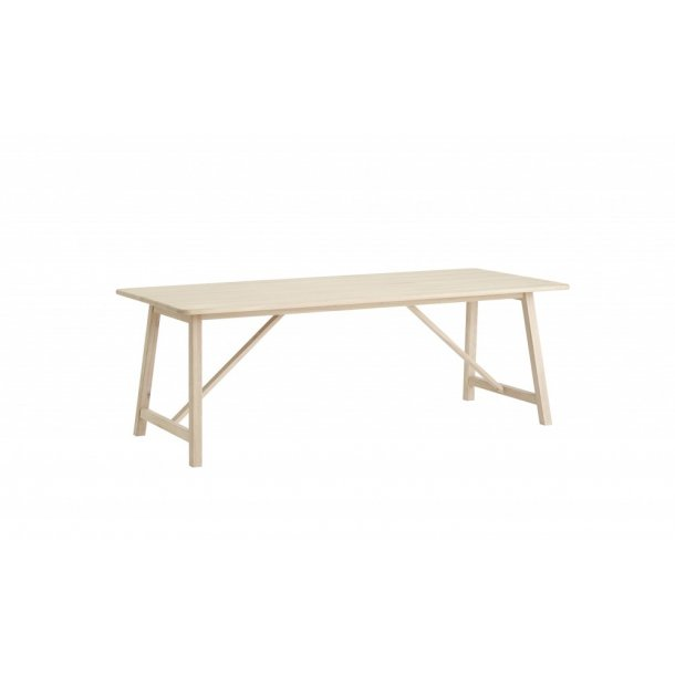 CASØ 603 spisebord i massiv hvidolieret eg 95x220 cm