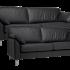 Padova 3+2,5 pers sofa sort okselæder