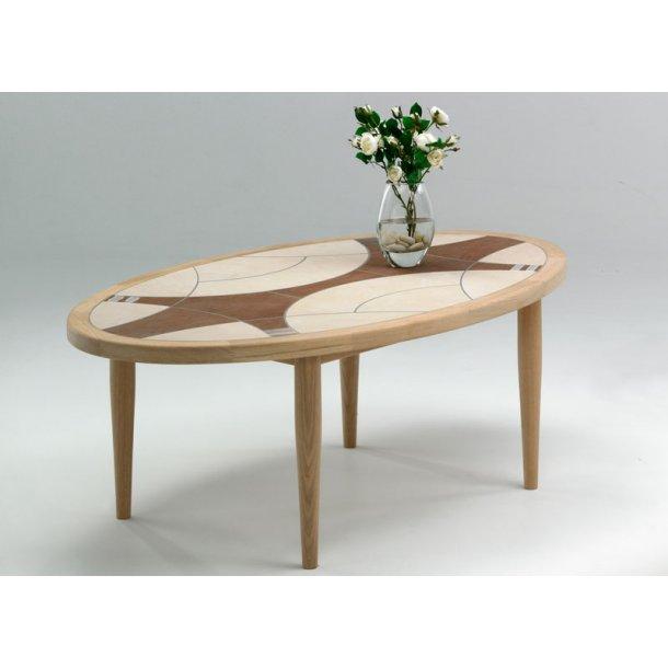 Villumsen sofabord no. 30 med kakler eg sæbe