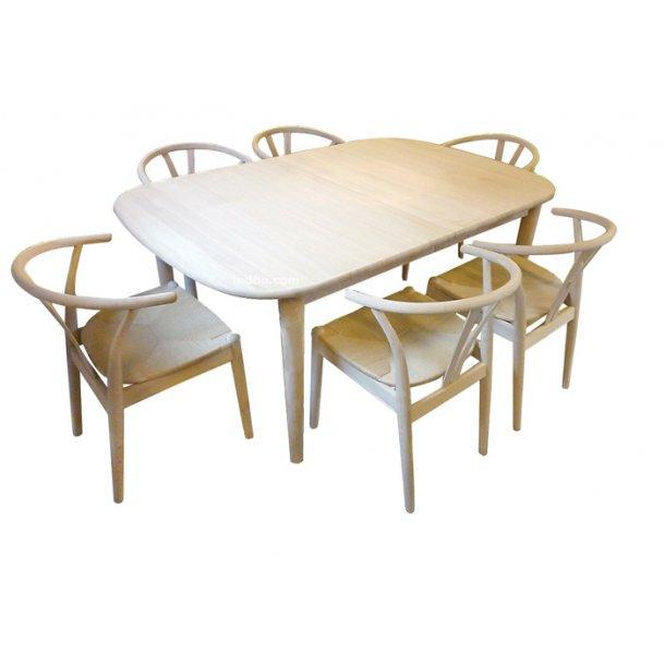 Indbo classic spisebord i massiv eg sæbe